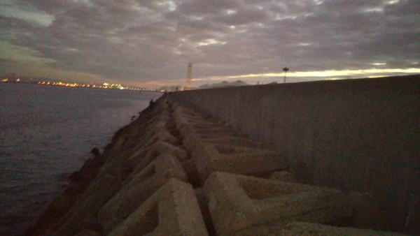 助松埠頭沖向きテトラ